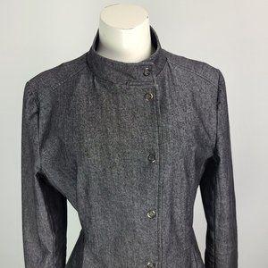 Sandro Black Cotton Blazer Jacket Size XL